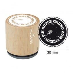 Woodies Stempel - Guter Grund zum Feiern (Blume)