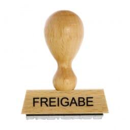 """Holzstempel mit Standardtext """"FREIGABE"""""""