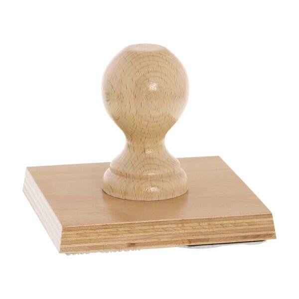 Holzstempel übergroß, quadratisch, 120x120 mm