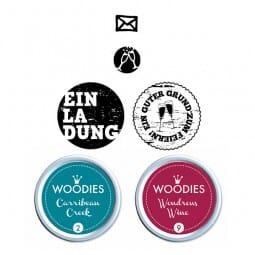 Woodies Stempel SET - Einladung WS0002