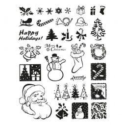 Clearstempel - Set Weihnachten