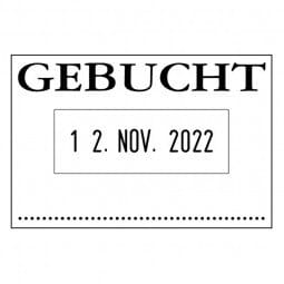 Colop 04060/L Bänderstempel GEBUCHT (45x30 mm)