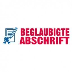 """Trodat Office Printy Textstempel """"Begl. Abschrift"""""""