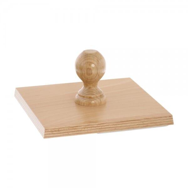 Holzstempel übergroß, quadratisch, 190x190 mm