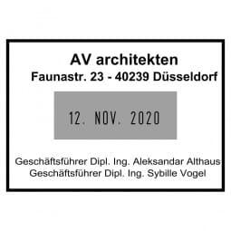 Colop Platten-Datumstempel P 700/11 (50x35 mm - 4 Zeilen)