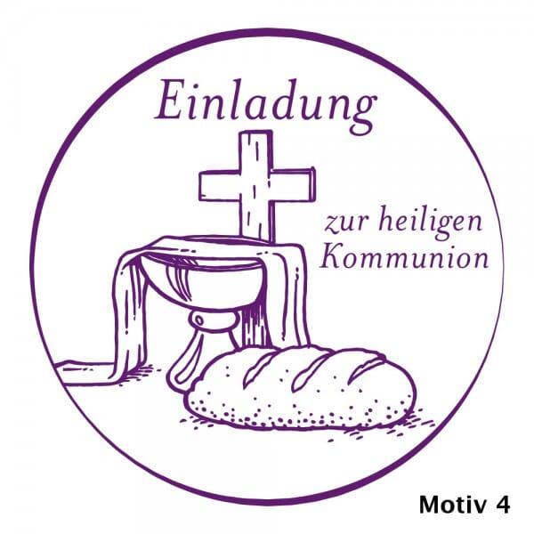 Geburt-Taufe und Kirche Holzstempel (Ø 40 mm)