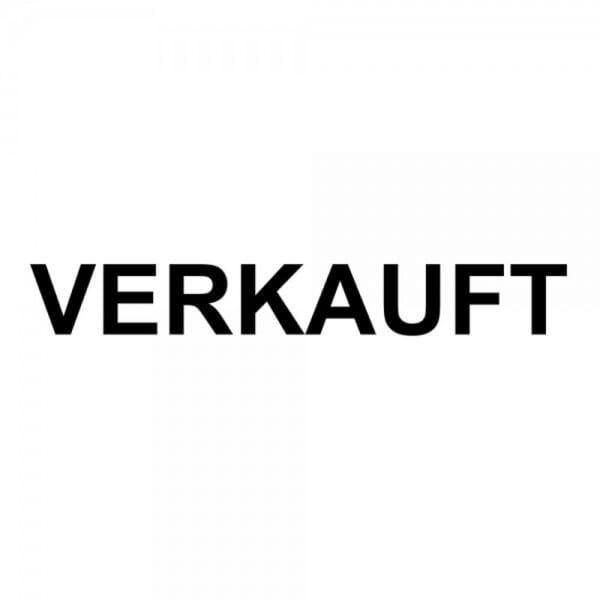 "Holzstempel mit Standardtext ""VERKAUFT"""