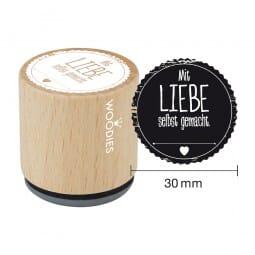 Woodies Stempel - Mit Liebe selbstgemacht