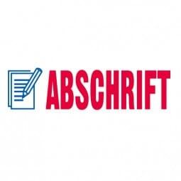 "Trodat Office Printy Textstempel ""Abschrift"""