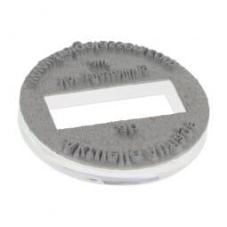 Textplatte für Trodat Printy 46125 - Dm. 25 mm - 2 + 2 Zeilen - rund