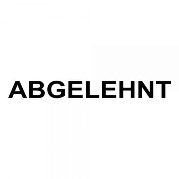 "Holzstempel mit Standardtext ""ABGELEHNT"""