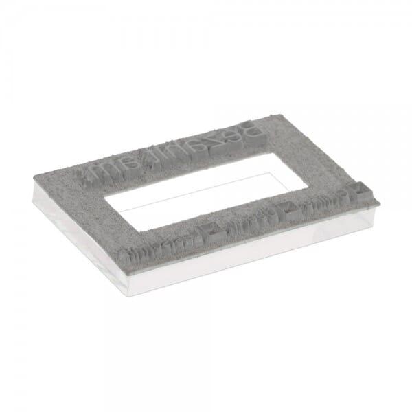 Textplatte für Trodat Professional 5460 - 56 x 33 mm - 3 + 3 Zeilen