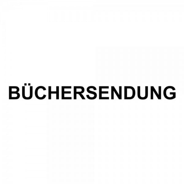 "Holzstempel mit Standardtext ""BÜCHERSENDUNG"""