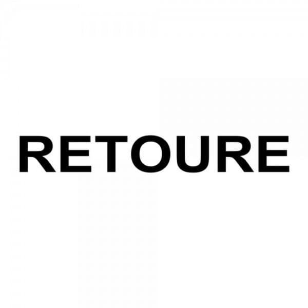 "Holzstempel mit Standardtext ""RETOURE"""