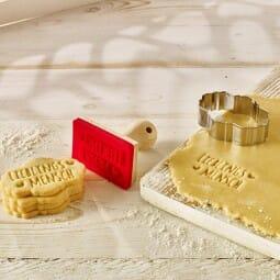 Ausstechring für Keksstempel Etikett/Poesie (80 mm)
