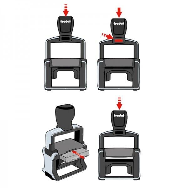 Kontierung- Buchhaltung Trodat Professional 5460 (56x33 mm)