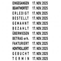 Trodat Classic 1117 Wortbanddrehstempel + Datum