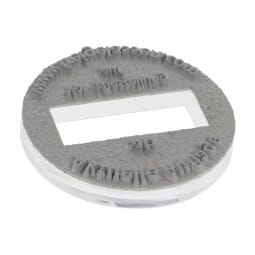 Textplatte für Colop Printer R 30 Dater (Ø 30 mm - 4 Zeilen)