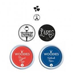 Woodies Stempel SET - Paris WS0012