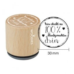 Woodies Stempel - Hier steckt zu 100% Hand (Herzen)