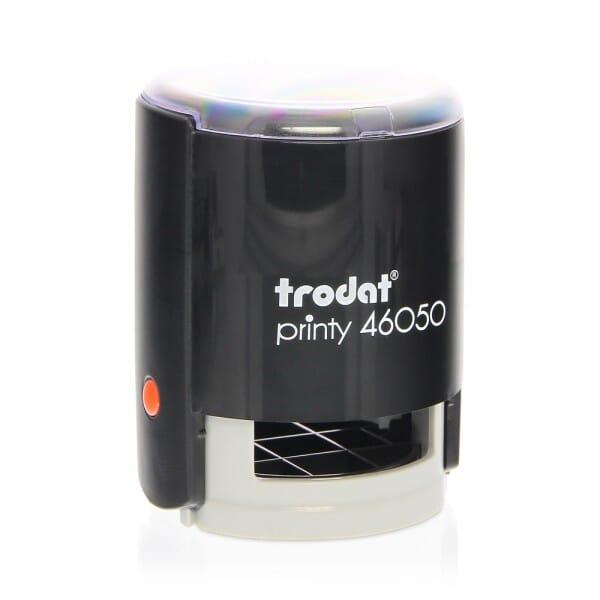 Trodat Printy 46050 - Textstempel - Dm. 50 mm - 10 Zeilen - rund