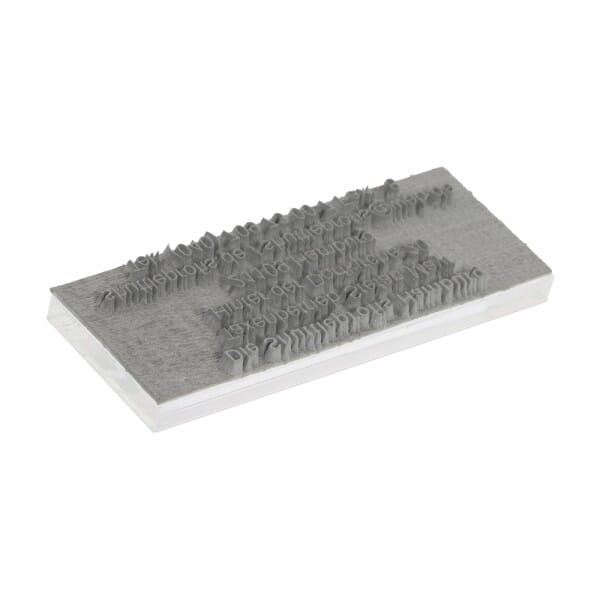 Textplatte für Trodat Printy 4911 - 38 x 14 mm - 3 Zeilen