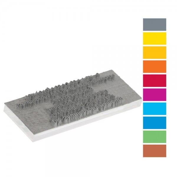 Textplatte für Trodat Printy PREMIUM 4911 (37x14 mm - 4 Zeilen)