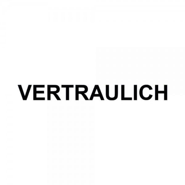 """Holzstempel mit Standardtext """"VERTRAULICH"""""""