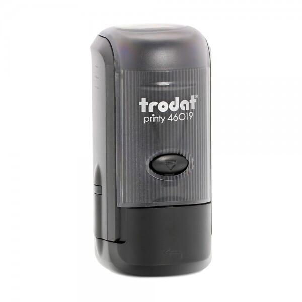 Trodat Printy 46019 - Textstempel - Dm. 19 mm - 4 Zeilen - rund