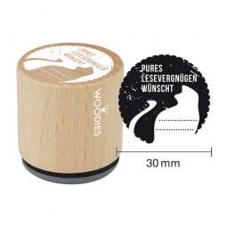 Woodies Stempel - Pures Lesevergnügen wünscht