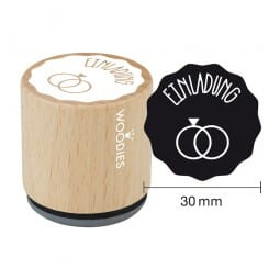 Woodies Stempel - Einladung (Ringe)