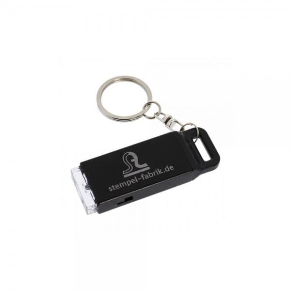 Taschenlampe und Schlüsselanhänger (Gravurmaß 35x15 mm)