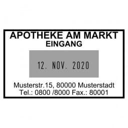 Apothekendatumstempel / Datumstempel 5440 (49x28 mm - 4 Zeilen)
