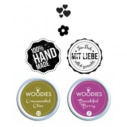 Woodies Stempel SET - Handmade WS0005