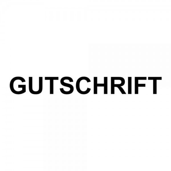 "Holzstempel mit Standardtext ""GUTSCHRIFT"""