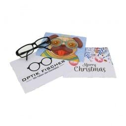 Glasreinigungstuch/Brillenputztuch individuell bedruckt (19x19 cm)