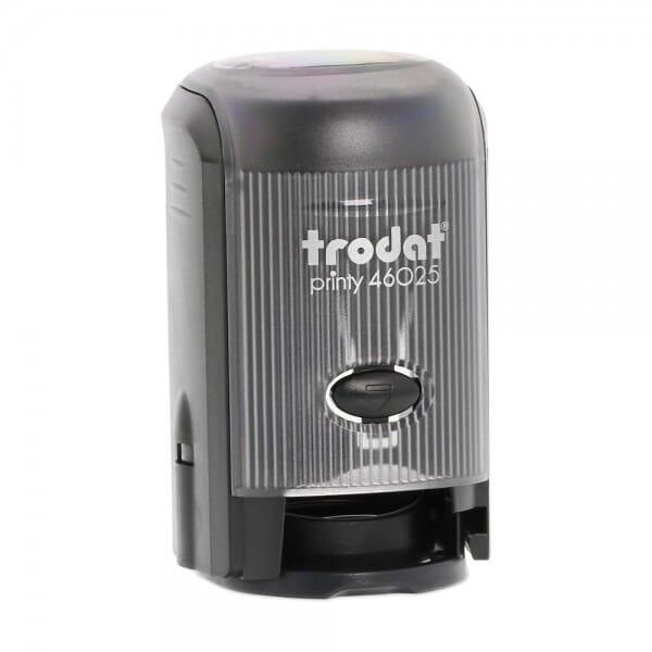 Trodat Printy 46025 - Textstempel - Dm. 25 mm - 5 Zeilen - rund