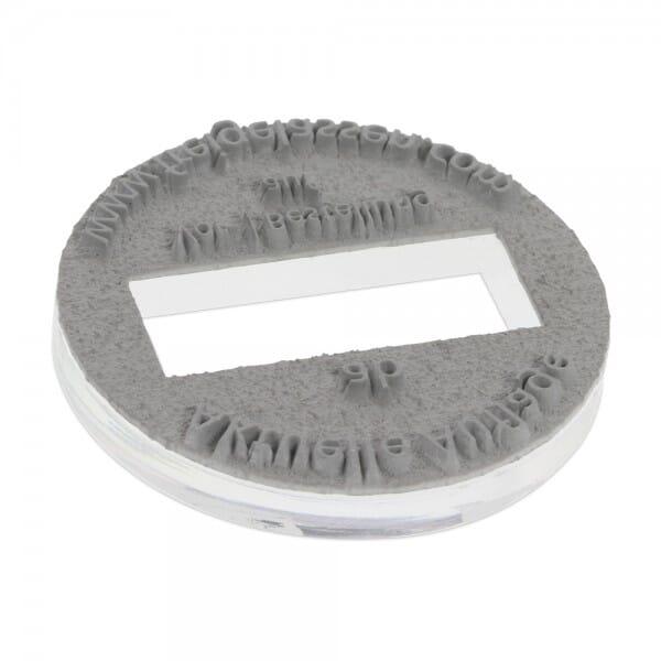 Textplatte für Trodat Printy 46140 - Dm. 40 mm - 3 + 3 Zeilen - rund