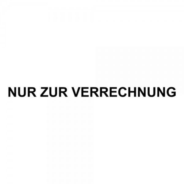 """Holzstempel mit Standardtext """"NUR ZUR VERRECHNUNG"""""""