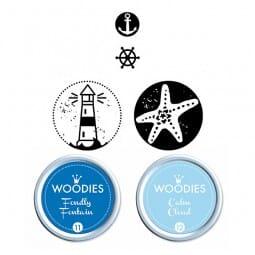 Woodies Stempel SET - Maritim WS0010