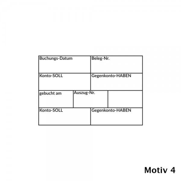 Kontierung- Buchhaltung Holzstempel (60x40 mm)