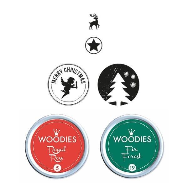Woodies Stempel SET - Weihnachten WS0007