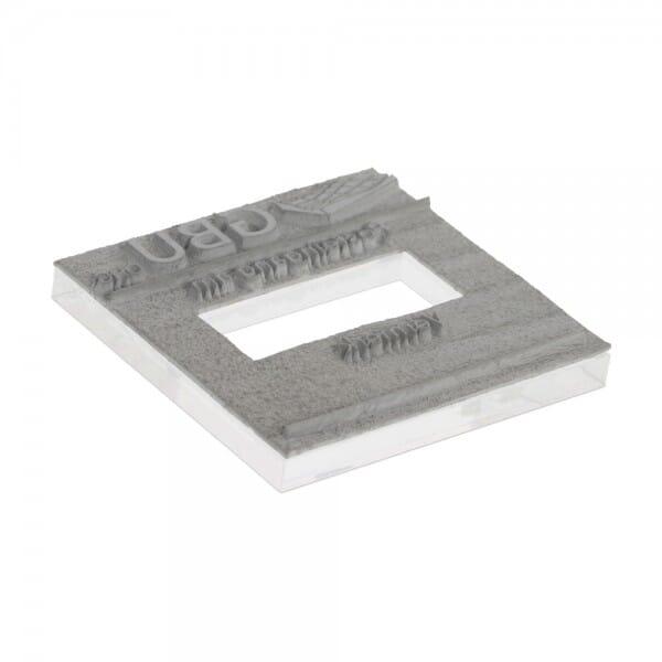 Textplatte für Trodat Printy 4724 - 40 x 40 mm - 3 + 3 Zeilen