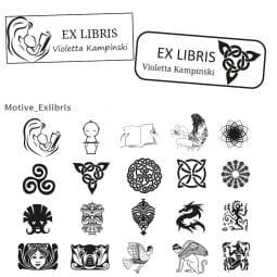 Exlibris Holzstempel / Selbstfärber Imprint 13 (57x21 mm)