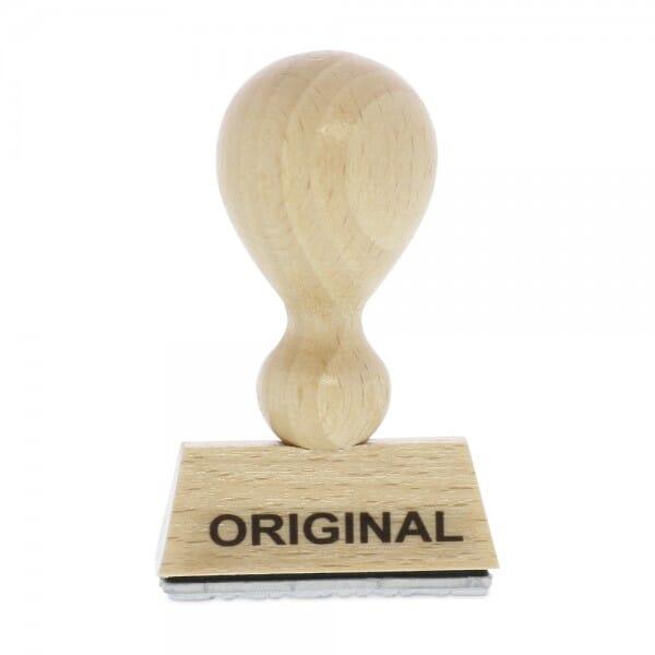 "Holzstempel mit Standardtext ""ORIGINAL"""