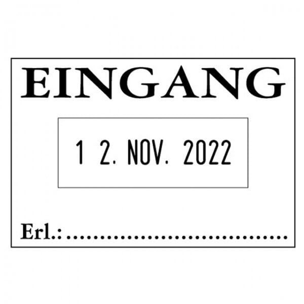Colop 04060/L Bänderstempel EINGANG (45x30 mm)