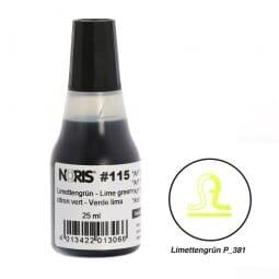 NORIS Stempelfarbe Limettengrün Pantone 381