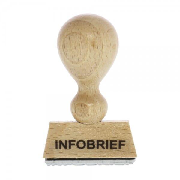 "Holzstempel mit Standardtext ""INFOBRIEF"""