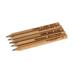 Kleine Bleistifte (Gravurmaße 65x5 mm)
