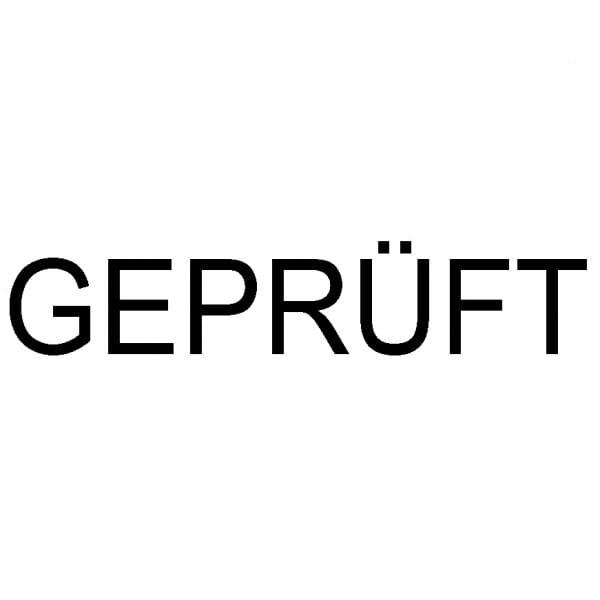 """Dormy Imprint 11 Lagertext """"Geprüft"""" (37x14 mm - 1 Zeile)"""